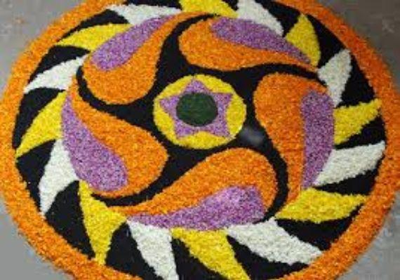 Indian Floral Design For Onam Festival (1)