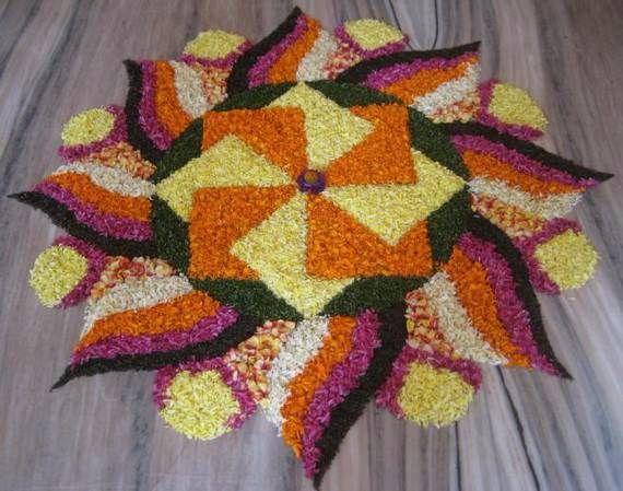 Indian Floral Design For Onam Festival (12)