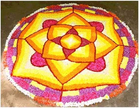 Indian Floral Design For Onam Festival (14)