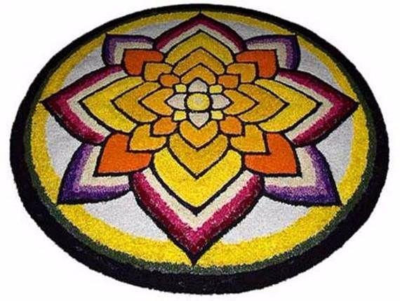 Indian Floral Design For Onam Festival (17)