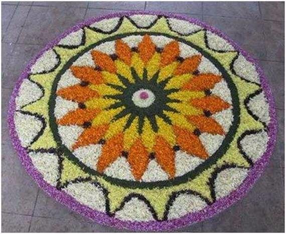 Indian Floral Design For Onam Festival (19)