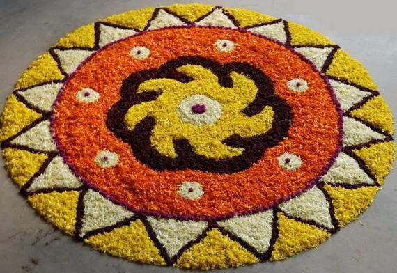 Indian Floral Design For Onam Festival (21)