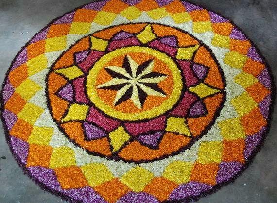 Indian Floral Design For Onam Festival (22)