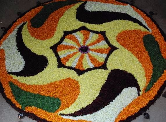 Indian Floral Design For Onam Festival (29)
