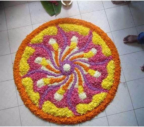 Indian Floral Design For Onam Festival (38)