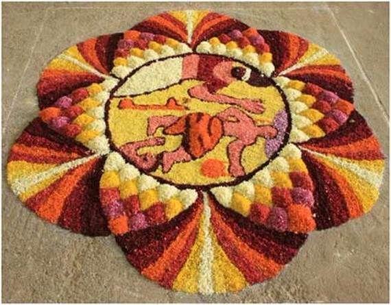 Indian Floral Design For Onam Festival (39)