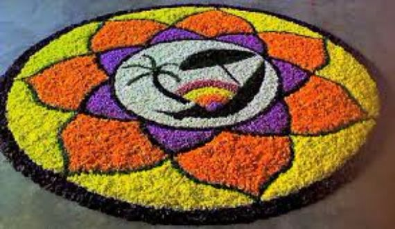 Indian Floral Design For Onam Festival (45)