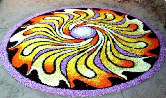 45 Best Pookalam Indian Floral Design For Onam Festival