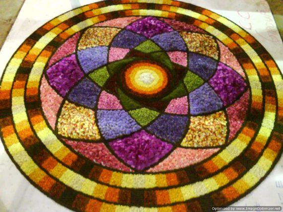 Indian Floral Design For Onam Festival (7)