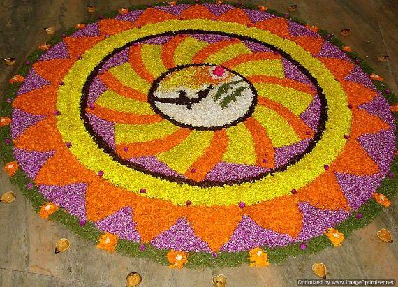 Indian Floral Design For Onam Festival (8)
