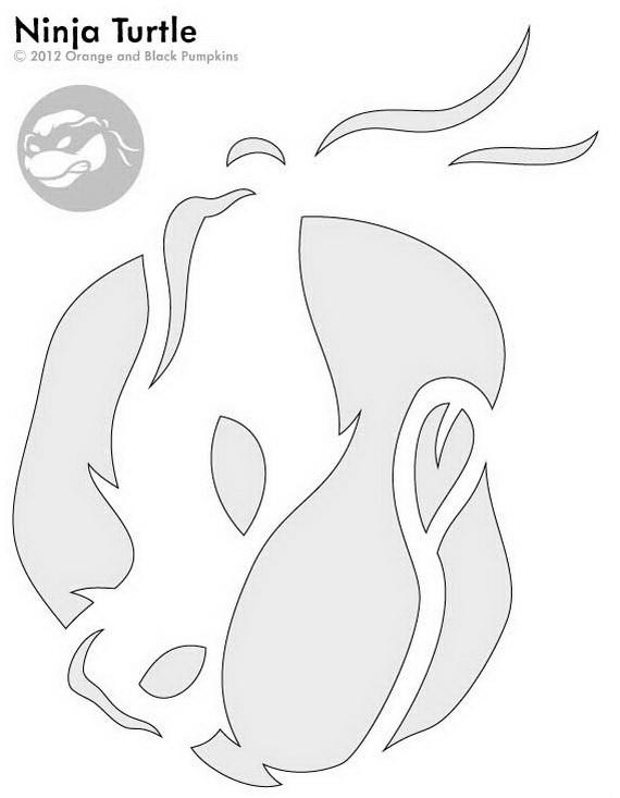 template ninja turtle pumpkin carving  Ninja Turtle Pumpkin Carving Template #Halloween