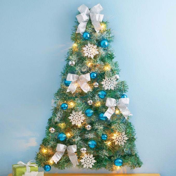 wall christmas tree alternative christmas tree ideas 3 - Corner Christmas Tree