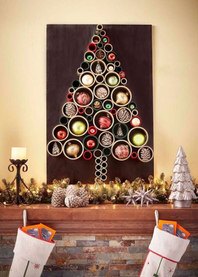wall christmas tree alternative christmas tree ideas