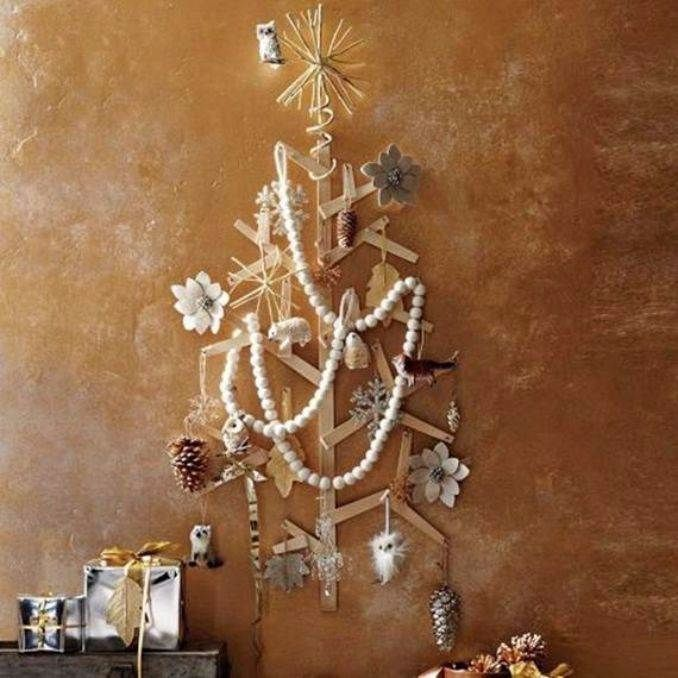 Alternative Christmas Party Ideas Part - 37: Wall-christmas-tree-alternative-christmas-tree-ideas_08