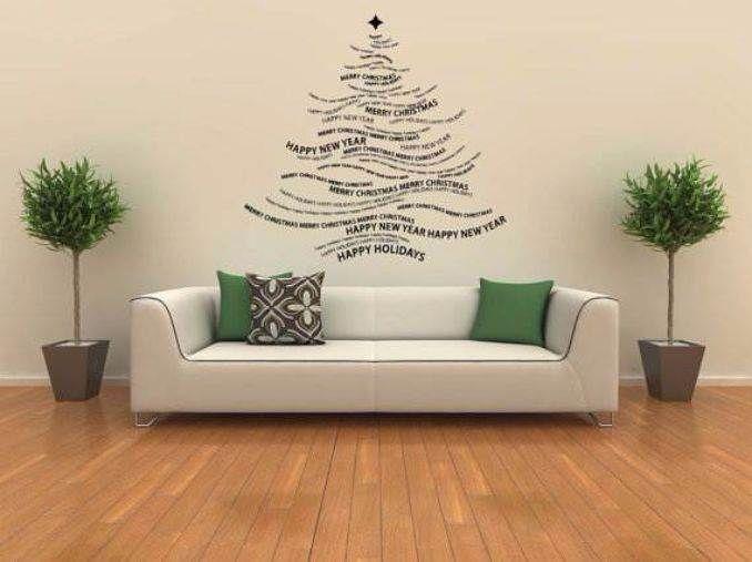 60 Wall Christmas Tree Alternative Christmas Tree Ideas Family