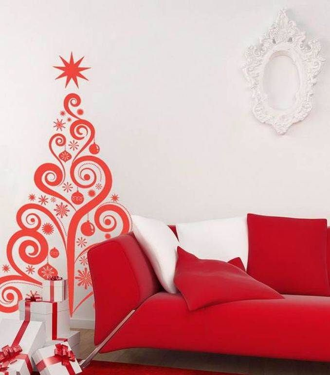 Christmas Wall Decor Images : Wall christmas tree alternative ideas
