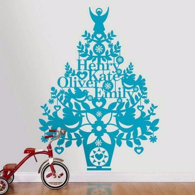 Wall Hanging Christmas Tree 60 wall christmas tree - alternative christmas tree ideas - family