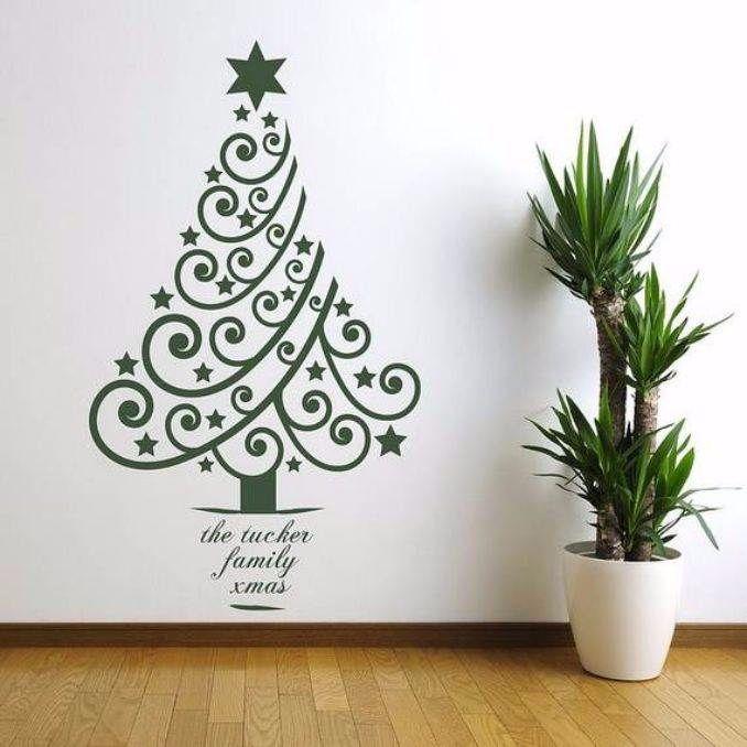 Tree Wall Decor 60 wall christmas tree - alternative christmas tree ideas - family