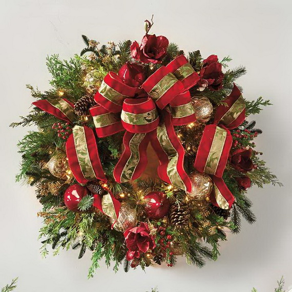 50 Great Christmas Wreath Ideas To Keep The Traditions Alive_29