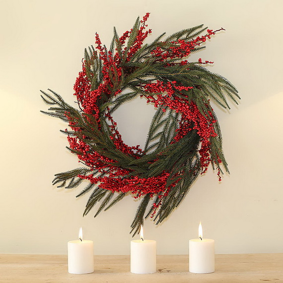 50 Great Christmas Wreath Ideas To Keep The Traditions Alive_49