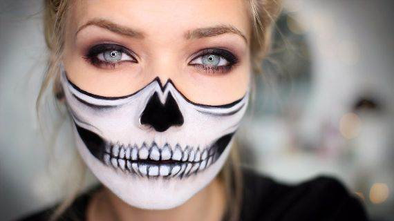 50 Halloween Best Calaveras Makeup Sugar Skull Ideas for Women (1)