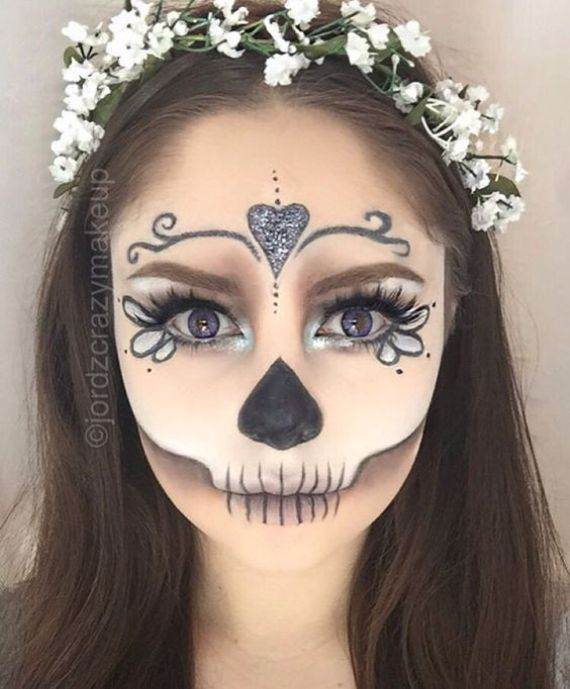 50 Halloween Best Calaveras Makeup Sugar Skull Ideas for Women (11)