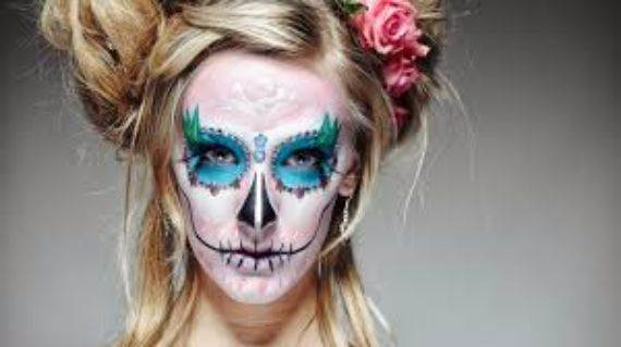 50 Halloween Best Calaveras Makeup Sugar Skull Ideas for Women (2)