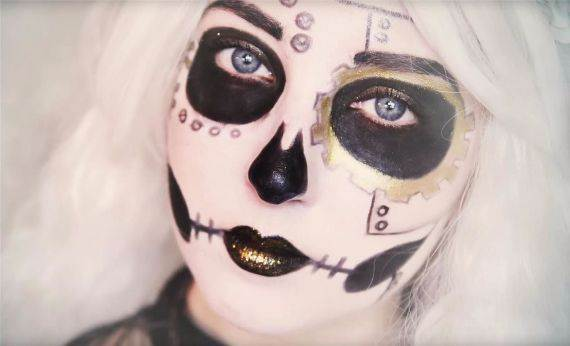 50 Halloween Best Calaveras Makeup Sugar Skull Ideas for Women (4)