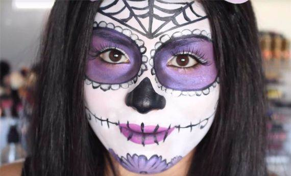 50 Halloween Best Calaveras Makeup Sugar Skull Ideas for Women (5)