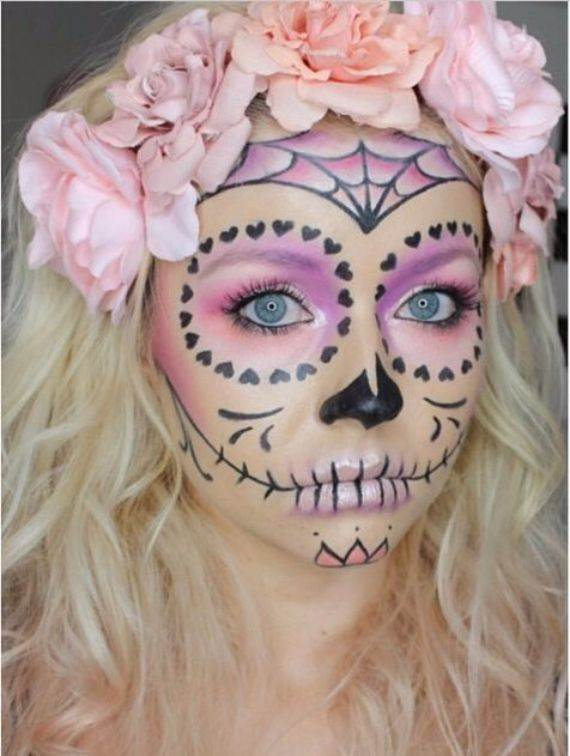 50 Halloween Best Calaveras Makeup Sugar Skull Ideas for Women (6)