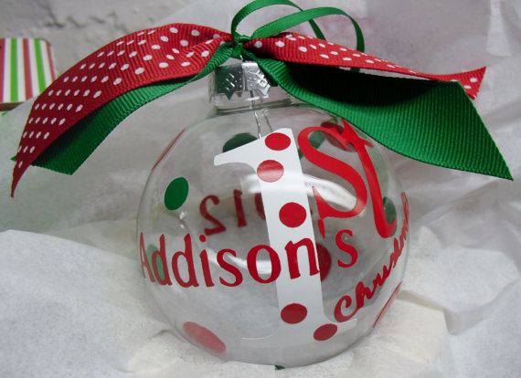Baby's First Christmas Ornament Ideas | Guide to family ...
