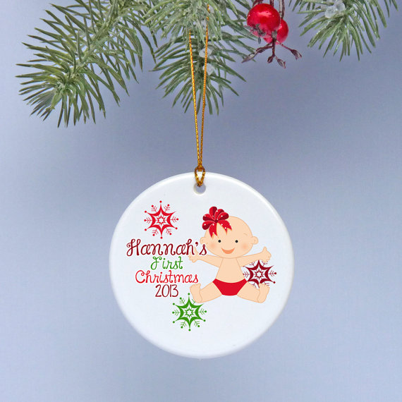 Baby's First Christmas Ornament Ideas     _61