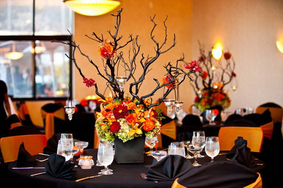 creative halloween wedding centerpiece ideas for autumn_2 - Halloween Centerpiece