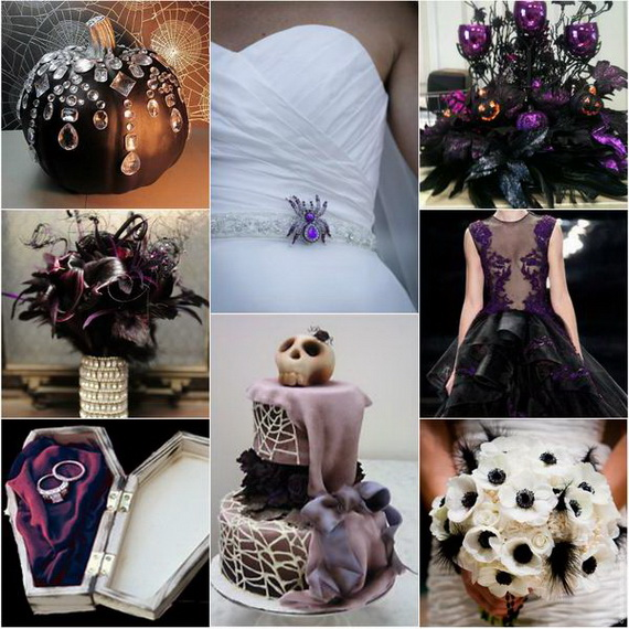 Halloween Weddings Decor Ideas: Creative Halloween Wedding Centerpiece Ideas For Autumn