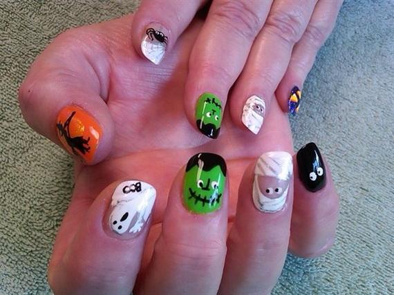 Gorgeous Ghastly Halloween Nail Art Designs (11)