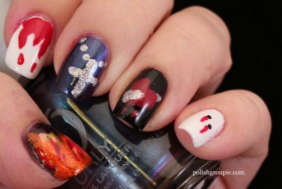 Gorgeous Ghastly Halloween Nail Art Designs (32)