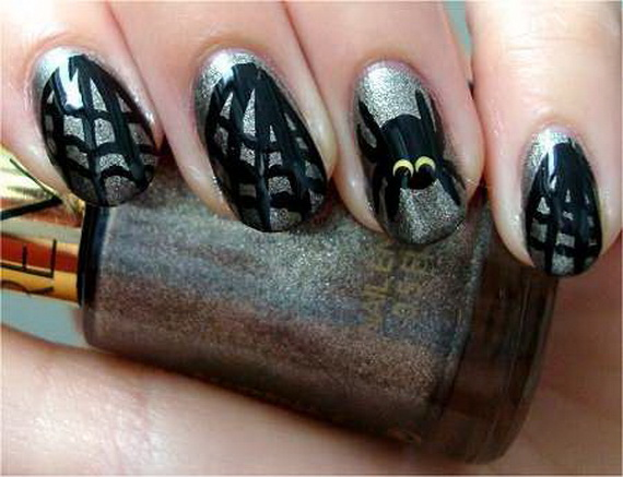 Gorgeous Ghastly Halloween Nail Art Designs (4)