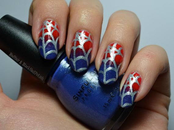 Gorgeous Ghastly Halloween Nail Art Designs (41)