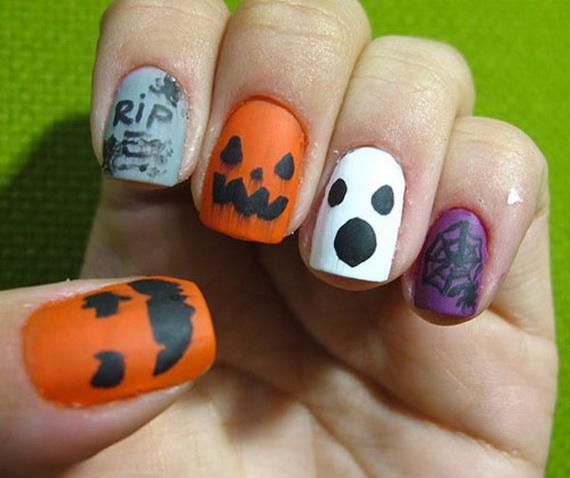Gorgeous Ghastly Halloween Nail Art Designs (6)