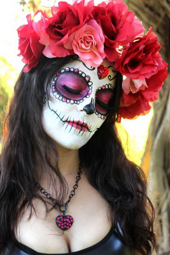 Halloween-Best-Calaveras-Makeup-Sugar-Skull-Ideas-for-Women (10)