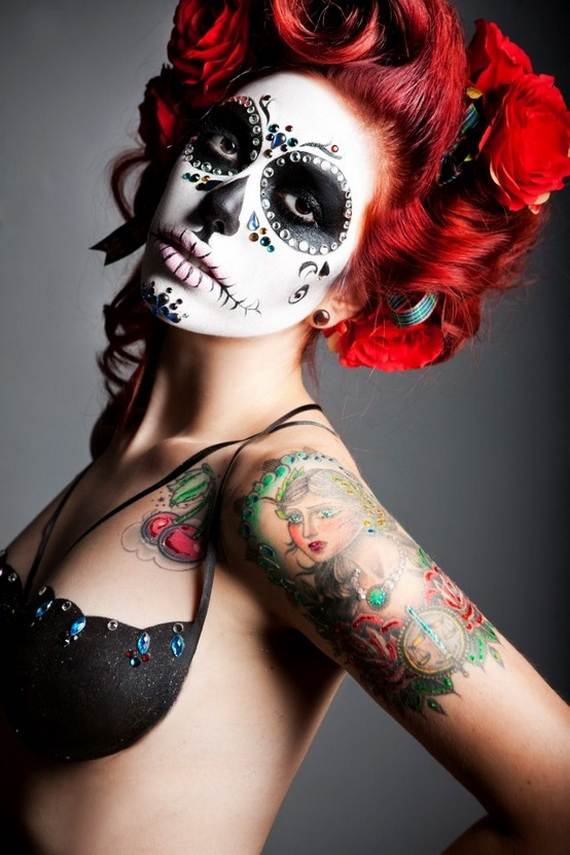 Halloween-Best-Calaveras-Makeup-Sugar-Skull-Ideas-for-Women (12)