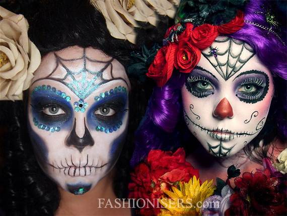 Halloween-Best-Calaveras-Makeup-Sugar-Skull-Ideas-for-Women (15)