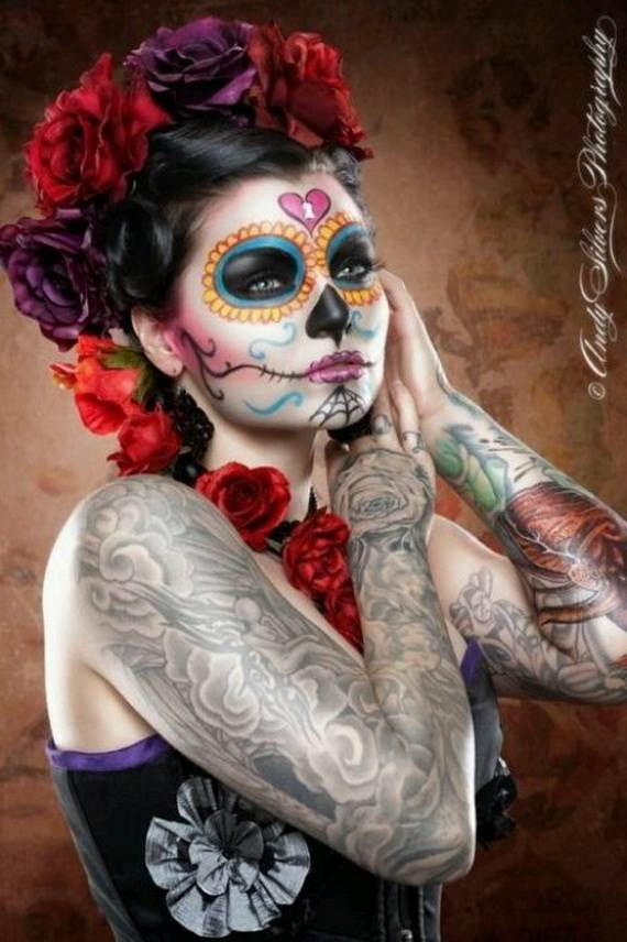 Halloween-Best-Calaveras-Makeup-Sugar-Skull-Ideas-for-Women (25)