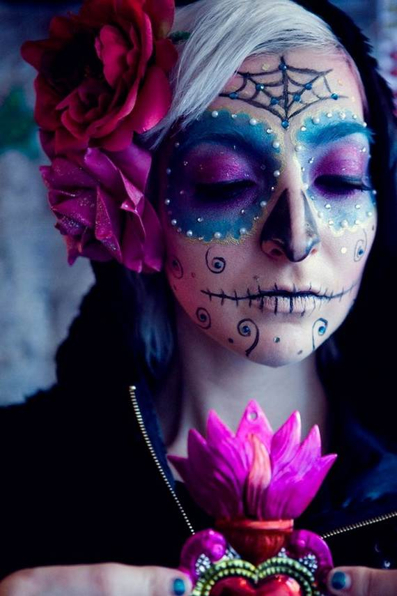 Halloween-Best-Calaveras-Makeup-Sugar-Skull-Ideas-for-Women (28)