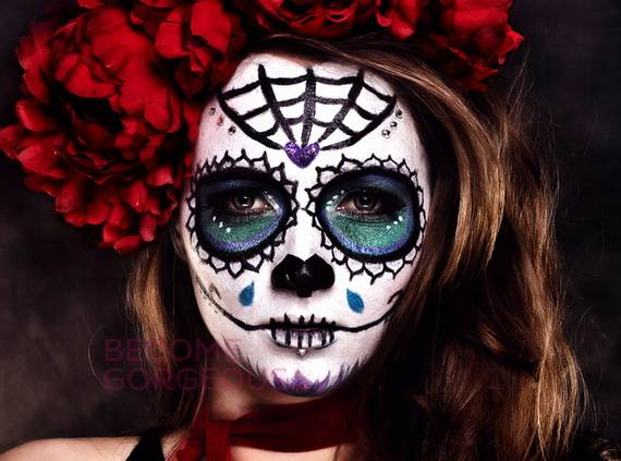Halloween-Best-Calaveras-Makeup-Sugar-Skull-Ideas-for-Women (34)