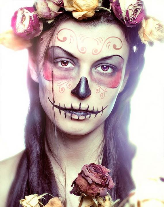 Halloween-Best-Calaveras-Makeup-Sugar-Skull-Ideas-for-Women (5)
