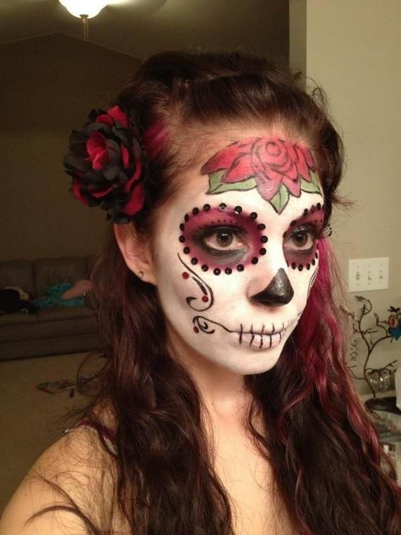 Halloween-Best-Calaveras-Makeup-Sugar-Skull-Ideas-for-Women (7)