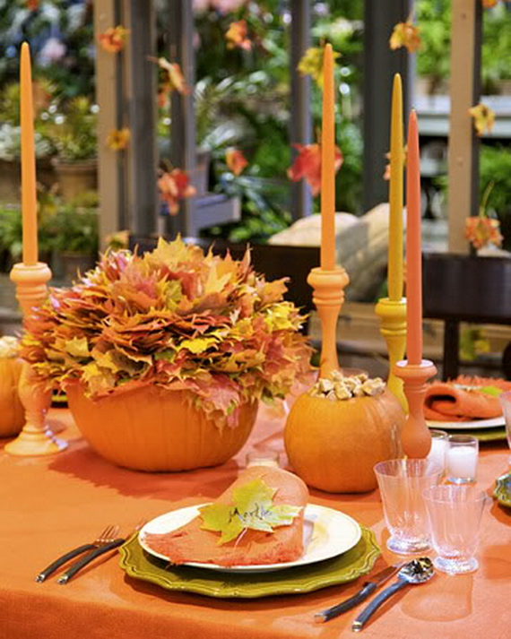 Autumn Table Setting Ideas top 10 table settings for a fall brunch Halloween Wedding Centerpiece Ideas _01
