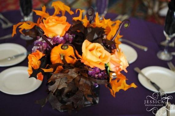 Halloween Wedding Centerpiece Ideas _21