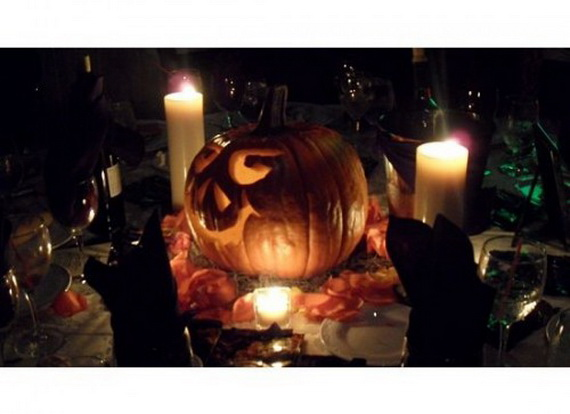 Halloween Wedding Centerpiece Ideas _36